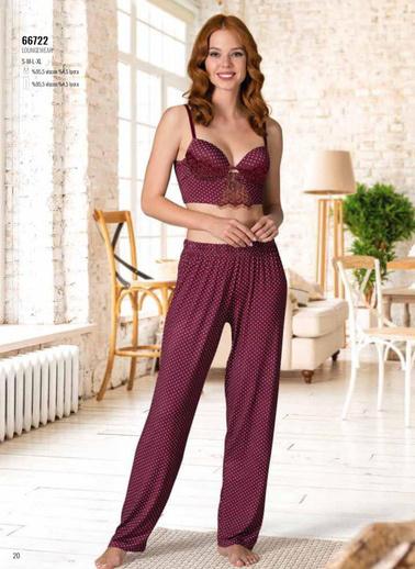 Nbb Pijama Takım Bordo